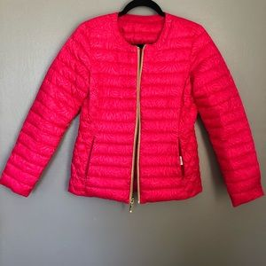 Lilly Pulitzer | Reversible Pink Puffer Coat